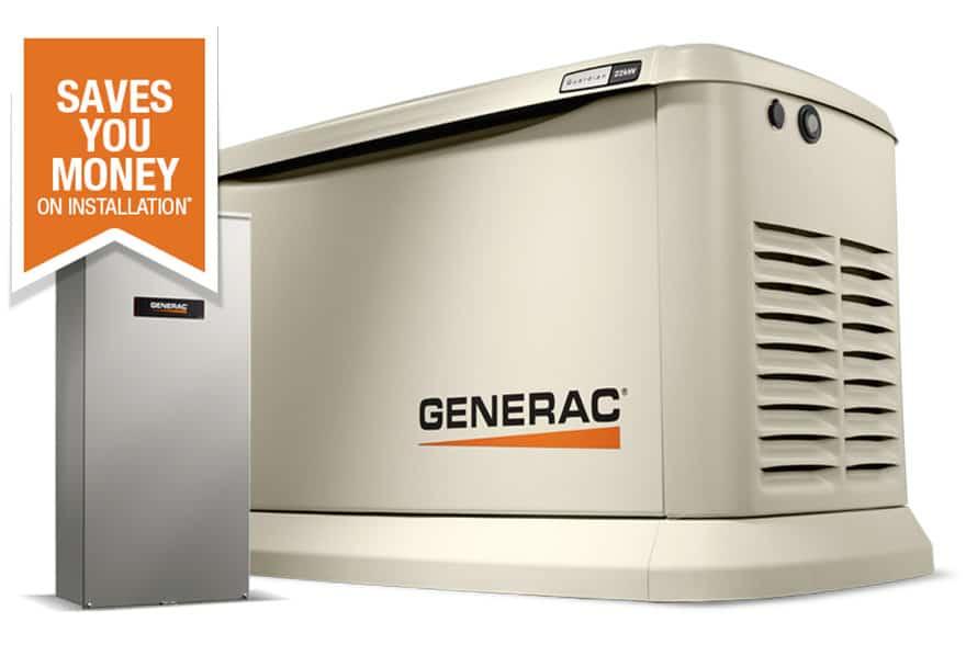 Generac Generator installed by GenRenew