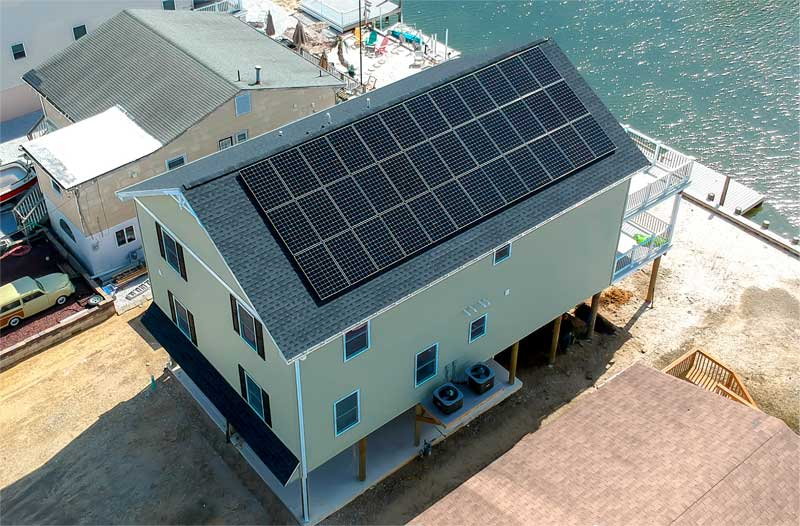 New jersey House with solar panel