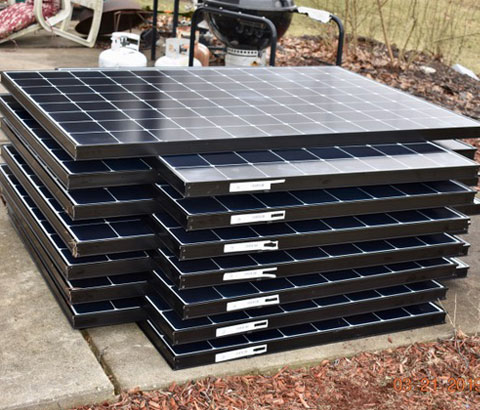 Stack of Solar Panel
